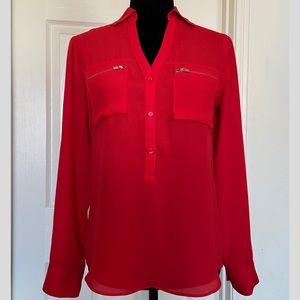 Express Portofino Shirt with zipper front pockets
